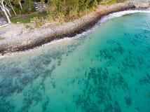 Μια εναέρια άποψη της παραλίας στοκ φωτογραφία με δικαίωμα ελεύθερης χρήσης