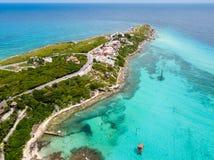 Μια εναέρια άποψη της Isla Mujeres σε Cancun, Μεξικό στοκ εικόνες με δικαίωμα ελεύθερης χρήσης