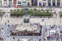 Μια εναέρια άποψη του μνημείου του βασιλιά Vicror Emmanuil ΙΙ, Μ στοκ εικόνες