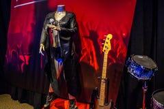 Μια ενδυμασία συναυλίας κονσερβών φρεατίων στο Κλίβελαντ, Οχάιο στοκ εικόνες
