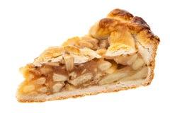 Μια ενιαία φέτα της πίτας μήλων που απομονώνεται στο άσπρο υπόβαθρο στοκ εικόνα με δικαίωμα ελεύθερης χρήσης