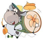 Μια ενός ανθρώπου ζώνη αγελάδων cartoon ελεύθερη απεικόνιση δικαιώματος