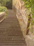 Μια εξωτερική σκάλα της πόλης της Γένοβας στοκ εικόνες