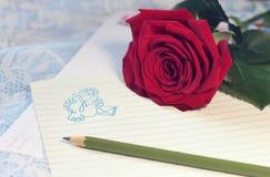 Μια επιστολή για τον αγαπημένο Στοκ φωτογραφία με δικαίωμα ελεύθερης χρήσης