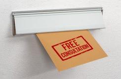 Μια επιστολή σφράγισε τις ελεύθερες διαβουλεύσεις σε μια αυλάκωση ταχυδρομείου στοκ εικόνα