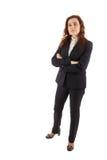 Μια επιχειρησιακή γυναίκα που στέκεται μπροστά από τη κάμερα Στοκ φωτογραφίες με δικαίωμα ελεύθερης χρήσης