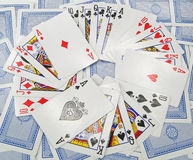 Κάρτες - πόκερ Στοκ Φωτογραφίες
