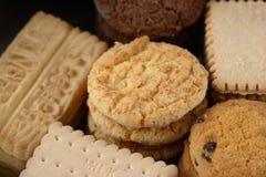 Μια επιλογή των μπισκότων Στοκ Εικόνες