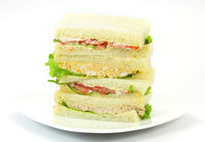 Μια επιλογή των σάντουιτς με τις διάφορες γαρνιτούρες Στοκ εικόνες με δικαίωμα ελεύθερης χρήσης