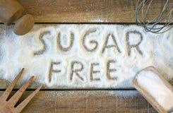 Μια ελεύθερη λέξη ζάχαρης με το υπόβαθρο Στοκ φωτογραφία με δικαίωμα ελεύθερης χρήσης