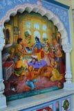 Μια ζωγραφική του Λόρδου Krishna στοκ εικόνες