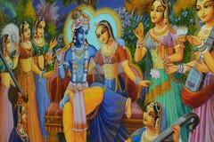 Μια ζωγραφική του Λόρδου Krishna στοκ εικόνα