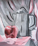 Πίνακας Apple Watercolor Στοκ φωτογραφίες με δικαίωμα ελεύθερης χρήσης