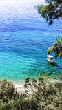 Μια ζωηρόχρωμη άποψη ενός όρμου στην Ελλάδα Στοκ Εικόνες