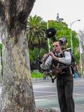 Μια ζώνη ατόμων στη Μελβούρνη Αυστραλία Στοκ Φωτογραφίες