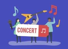 Μια ζώνη που εκτελεί τη ζωντανή μουσική ελεύθερη απεικόνιση δικαιώματος