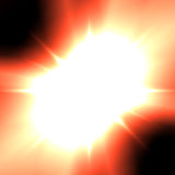 Μια ηλιακή φλόγα διανυσματική απεικόνιση