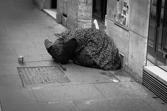 Μια ηλικιωμένη κυρία που ικετεύει για τα χρήματα Στοκ φωτογραφίες με δικαίωμα ελεύθερης χρήσης