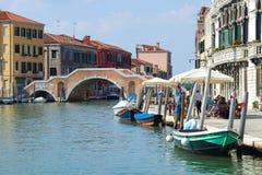 Μια ηλιόλουστη ημέρα στο dei Tre Archi Ponte Ιταλία Βενετία Στοκ φωτογραφία με δικαίωμα ελεύθερης χρήσης