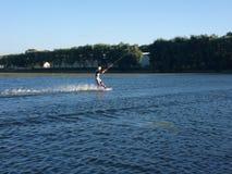 Μια ημέρα στη λίμνη = ένας μήνας στην πόλη Στοκ εικόνες με δικαίωμα ελεύθερης χρήσης