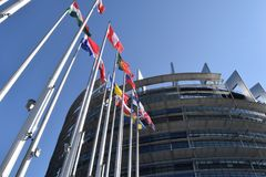 Μια ημέρα στο ευρωπαϊκό Perlamento του Στρασβούργου - της Γαλλίας 02 Στοκ φωτογραφία με δικαίωμα ελεύθερης χρήσης