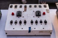 Μια ηλεκτρική συσκευή ελέγχου για να ελέγξει τον εξοπλισμό φωτισμού Στοκ Εικόνες