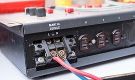 Μια ηλεκτρική συσκευή ελέγχου για να ελέγξει τον εξοπλισμό φωτισμού Στοκ Φωτογραφίες