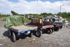 Μια θέση στάθμευσης μοτοποδηλάτων φορτίου Στοκ φωτογραφία με δικαίωμα ελεύθερης χρήσης