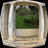 Μια θαυμάσια άποψη μέσω των πυλών ` του παρελθόντος, χρυσό πάρκο πυλών στοκ φωτογραφία με δικαίωμα ελεύθερης χρήσης