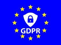 Μια θαυμάσια έννοια του γενικού κανονισμού προστασίας δεδομένων από την Ευρωπαϊκή Ένωση Στοκ φωτογραφίες με δικαίωμα ελεύθερης χρήσης
