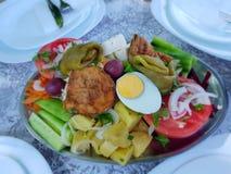 Μια θαυμάσια σαλάτα Ένα εύγευστο γεύμα υγιή και φυσικά τρόφιμα στοκ φωτογραφίες με δικαίωμα ελεύθερης χρήσης