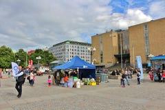 Μια θερινή ημέρα σε Medborgarplatsen Στοκ εικόνες με δικαίωμα ελεύθερης χρήσης