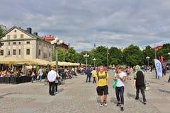 Μια θερινή ημέρα σε Medborgarplatsen Στοκ Εικόνες