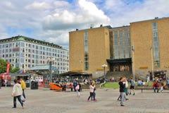 Μια θερινή ημέρα σε Medborgarplatsen Στοκ Φωτογραφία