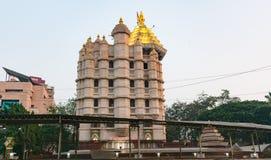 Μια θραύση του ναού siddhivinayak στο mumbai στοκ φωτογραφία