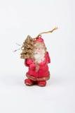 Μια διακόσμηση Χριστουγέννων με Άγιο Βασίλη στο άσπρο υπόβαθρο Στοκ Εικόνες