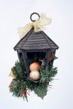 Μια διακόσμηση Χριστουγέννων στο άσπρο υπόβαθρο Στοκ εικόνα με δικαίωμα ελεύθερης χρήσης