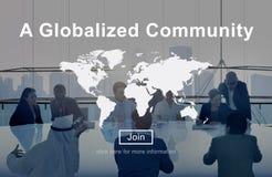 Μια διεθνοποιημένη κοινοτική παγκόσμια έννοια δικτύων σύνδεσης Στοκ Φωτογραφία