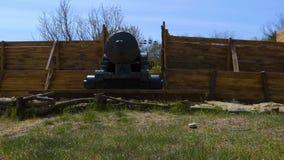 Μια ιστορική θέση και ένα πυροβόλο απόθεμα βίντεο