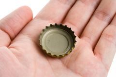 Μια ΚΑΠ μπουκαλιών στοκ φωτογραφίες με δικαίωμα ελεύθερης χρήσης