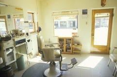 Μια καρέκλα barbershop, Λυών, κοβάλτιο Στοκ εικόνα με δικαίωμα ελεύθερης χρήσης