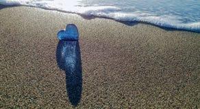 Μια καρδιά γυαλιού θαλασσίως στοκ φωτογραφία με δικαίωμα ελεύθερης χρήσης