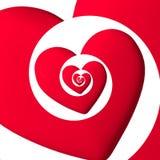 Μια καρδιά που μεταφέρει την αγάπη στο άπειρο Στοκ εικόνες με δικαίωμα ελεύθερης χρήσης
