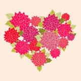 Μια καρδιά λουλουδιών Στοκ Φωτογραφία