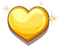 Μια καρδιά του χρυσού απεικόνιση αποθεμάτων
