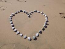 Μια καρδιά των χαλικιών στοκ εικόνα με δικαίωμα ελεύθερης χρήσης
