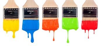Βούρτσες χρωμάτων Στοκ Φωτογραφίες