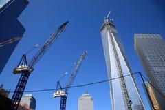 Μια κατασκευή του World Trade Center Στοκ φωτογραφίες με δικαίωμα ελεύθερης χρήσης