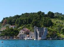 Μια καταστροφή σε Polace σε Mljet στην Κροατία στοκ εικόνα με δικαίωμα ελεύθερης χρήσης