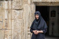μια καλόγρια στο μοναστήρι δακτυλίων, Γεωργία Στοκ Φωτογραφία